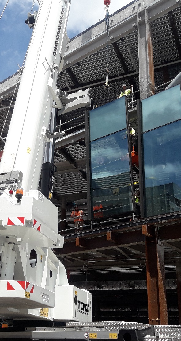 Curtain Wall Installation for Scentre Groups 309 Broadway Westfield Development